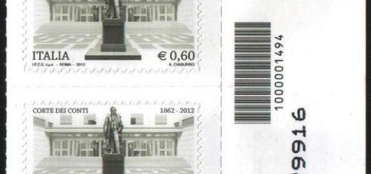 francobollo codice a barre raro